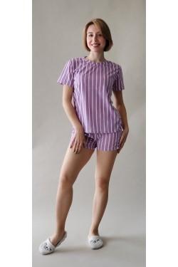 Пижама с футболкой и шортами Pink&White (7265)