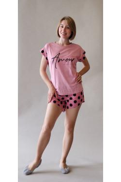 Пижама с шортами Amour Pink (139)