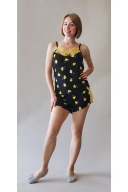Пижама с шортами Yellow Love (143)