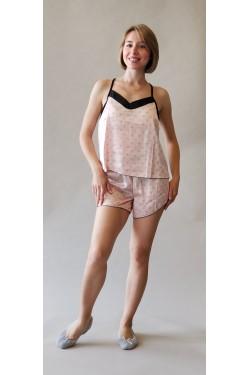 Пижама с шортами Pink Heart (144)