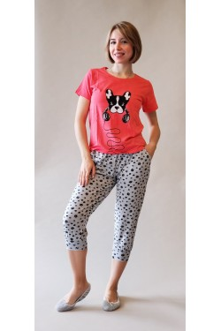 Пижама с шортами Панда (1337)